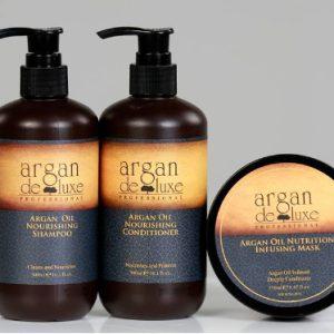 Bộ gội xã hấp dầu argan deluxe phục hồi tóc hư tổn 300ml