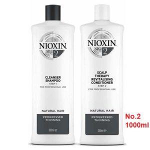 Cặp gội xã nioxin số 2 chống rụng mọc tóc 1000ml