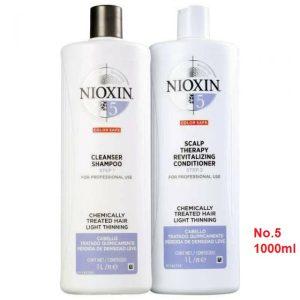 Cặp gội xã nioxin số 5 chống rụng mọc tóc 1000ml