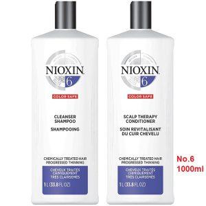Cặp gội xã nioxin số 6 chống rụng mọc tóc 1000ml