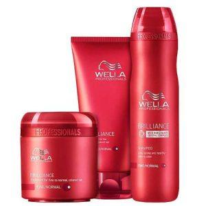 Bộ gội xả hấp wella brilliance tóc nhuộm (Bộ nhỏ)