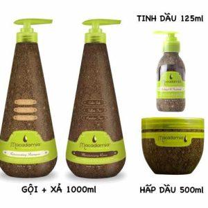 Combo Macadamia chăm sóc tóc hư tổn (Bộ lớn)