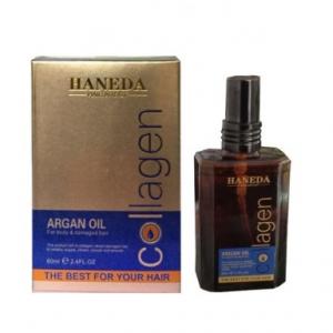 Tinh dầu dưỡng tóc haneda collagen argan 60ml