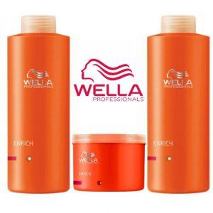 Combo wella enrich gội xả hấp tóc khô xơ hư tổn