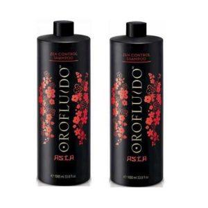 Cặp gội xả Orofluido Asia Zen Control phục hồi tóc hư tổn 1000ml