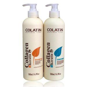Bộ dầu gội xả Colatin cho tóc khô hư tổn 500ml